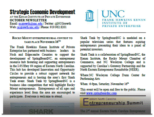 NC Growth October 2013 Newsletter
