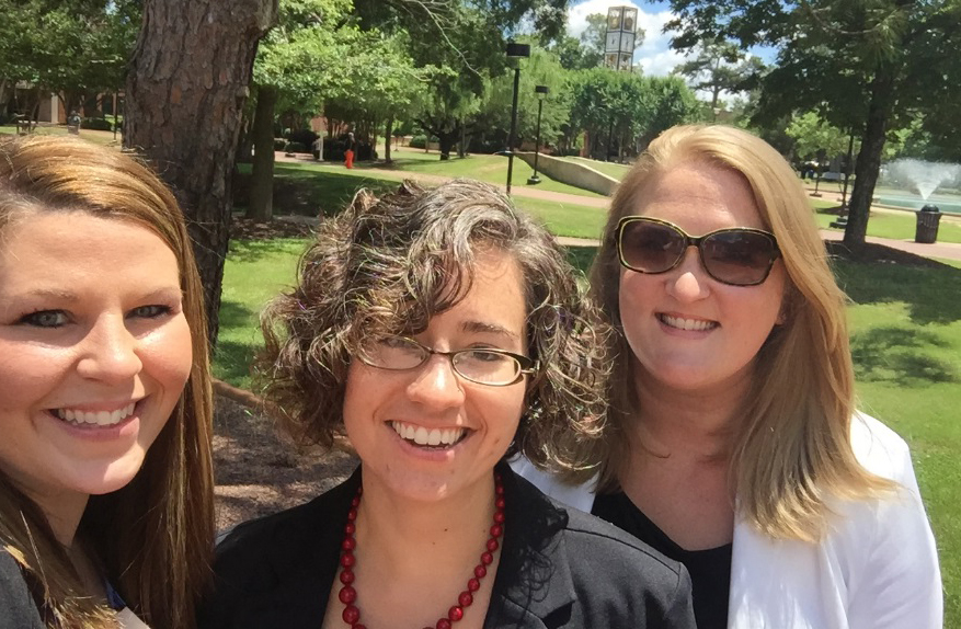 Brandi Bullock, Carolyn Fryberger, and Meredith Bunnell.